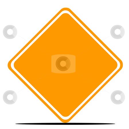 Blank orange diamond road sign stock photo, Blank orange diamond road sign isolated on white background. by Martin Crowdy