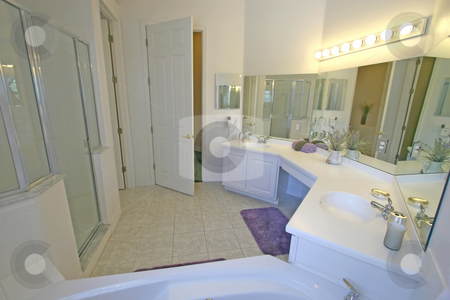 Master Bathroom stock photo, A Interior Shot of a Bathroom in Florida by Lucy Clark