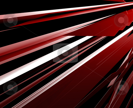 Panels abstract stock photo, Abstract geometric illustration, smooth chrome flying panels by Kheng Guan Toh