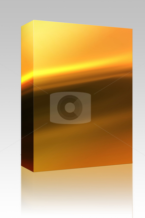 Wavy glowing colors box package stock photo, Software package box Abstract wallpaper illustration of wavy flowing energy and colors by Kheng Guan Toh