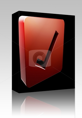 Yes navigation icon box package stock photo, Software package box Yes navigation icon glossy button, square shape by Kheng Guan Toh