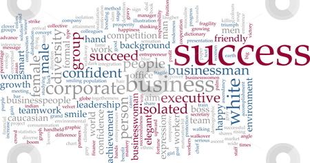 Success word cloud stock photo, Word cloud concept illustration of business success by Kheng Guan Toh