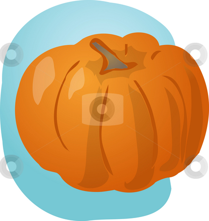 Pumpkin illustration stock photo, Sketch of pumplkin. Hand-drawn lineart look illustration by Kheng Guan Toh