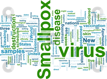 Smallpox word cloud stock photo, Word cloud concept illustration of  smallpox virus by Kheng Guan Toh