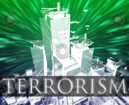 Terrorism attack stock photo, Terrorist terror attack Al Queda terrorism bombing concept illustration by Kheng Guan Toh