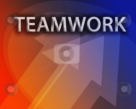 Teamwork illustration stock photo, Teamwork illustration, abstract management success concept clipart by Kheng Guan Toh