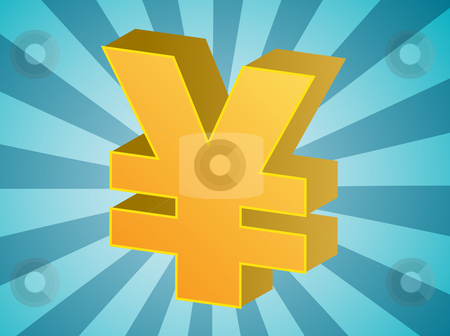 Yen currency stock photo, Yen currency japanese money symbol isometric illustration by Kheng Guan Toh