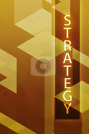 Strategy concept art stock photo, Strategy illustration, management organization structure concept clipart by Kheng Guan Toh