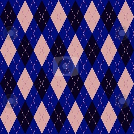 Argyle seamless pattern stock photo, Argyle knit pattern seamless tiling background texture by Kheng Guan Toh