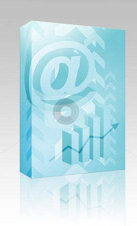 At symbol success box package stock photo, Software package box Abstract financial success illustration with electronic at symbol by Kheng Guan Toh