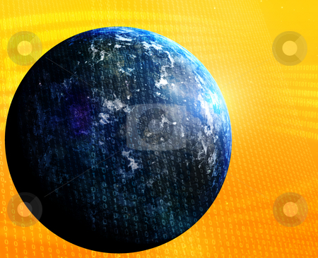 World data stock photo, Digital data transfer,with globe world map by Kheng Guan Toh