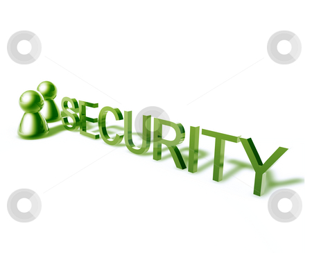 Security word graphic stock photo, Security online word graphic, with stylized people icons by Kheng Guan Toh