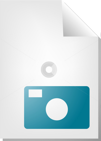 Photo document icon stock photo, Photo image document file type illustration clipart by Kheng Guan Toh