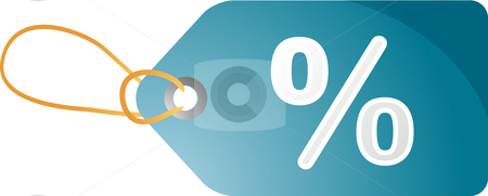 Percent discount tag stock photo, Sales tag label illustration with percent discount symbol by Kheng Guan Toh