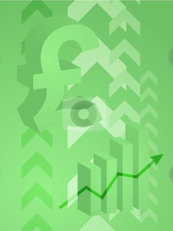 Pound success illustration stock photo, Abstract financial success illustration with pound currency by Kheng Guan Toh