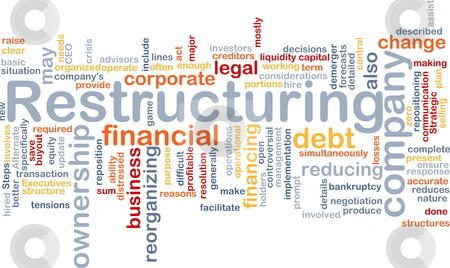 Restructuring word cloud stock photo, Word cloud concept illustration of company restructuring by Kheng Guan Toh