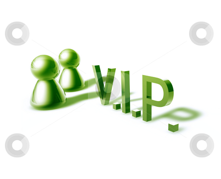 VIP word graphic stock photo, VIP online word graphic, with stylized people icons by Kheng Guan Toh