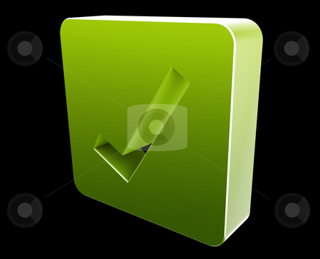 Yes navigation icon stock photo, Yes navigation icon glossy button, square shape by Kheng Guan Toh
