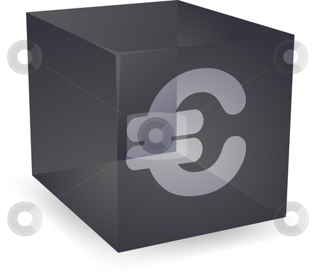 Pound cube icon stock photo, British pound icon on translucent cube shape illustration by Kheng Guan Toh