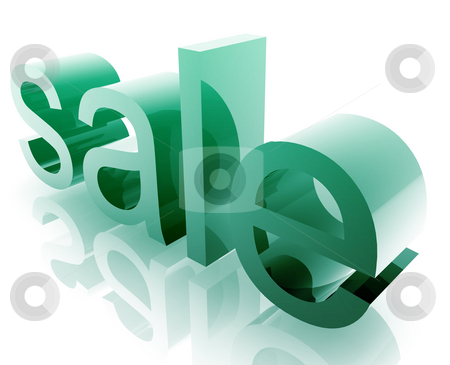Shopping sales discount stock photo, Shopping sales word graphic, with metal chrome style by Kheng Guan Toh