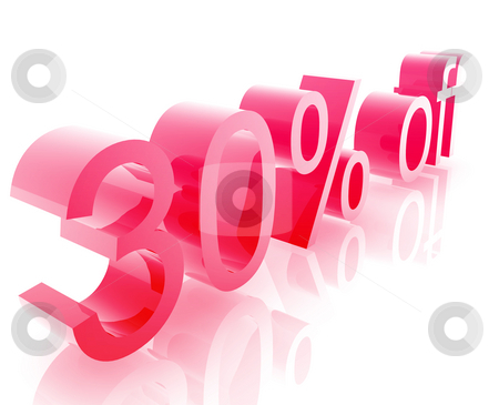 Thirty percent discount stock photo, Thirty Percent discount, retail sales promotion announcement illustration by Kheng Guan Toh