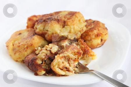 Potato cutlets stock photo, Potato cutlets dish made from stuffed mashed potatoes by Kheng Guan Toh