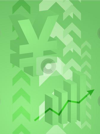 Yen success illustration stock photo, Abstract financial success illustration with Yen currency by Kheng Guan Toh