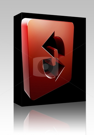 Reload navigation icon box package stock photo, Software package box Reload navigation icon glossy button, square shape by Kheng Guan Toh