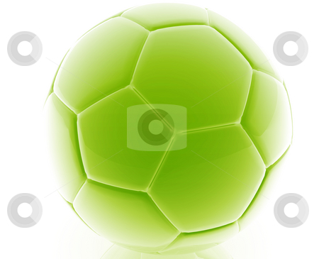 Soccer ball illustration stock photo, Soccer ball illustration glossy metal style isolated by Kheng Guan Toh