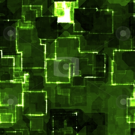 Square glowing pattern stock photo, Square glowing abstract background light pattern illustration by Kheng Guan Toh