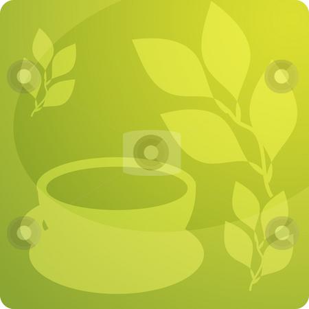 Tea illustration stock photo, Stylized panel design illustration of tea beverage by Kheng Guan Toh
