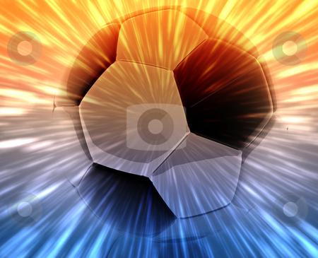 Soccer ball abstract stock photo, Shining modern soccer ball abstract wallpaper background by Kheng Guan Toh