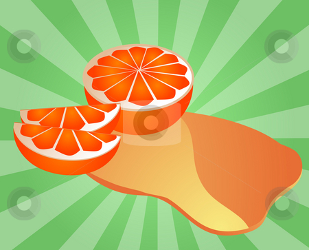 Orange juice splash stock photo, Freshly cut orange fruit with splash of juice by Kheng Guan Toh