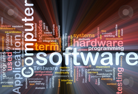 Software word cloud box package stock photo, Word cloud concept illustration of computer software by Kheng Guan Toh