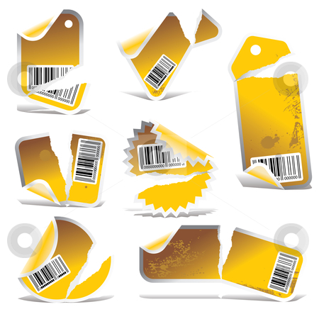 Yellow vector stickers stock vector clipart, Price tag vector, vector price tag, price tag, by ojal_2