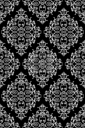 Wrought iron pattern stock vector clipart, Wrought iron pattern - repeating left to right, top to bottom (vector) by ojal_2