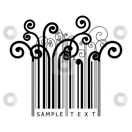 Curly barcode stock vector clipart,  by ojal_2