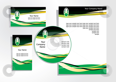 Corporate identity stock vector clipart, Corporate identity template - vector illustration by ojal_2