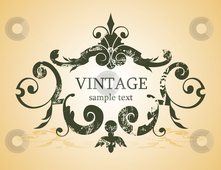 Vintage background stock vector clipart,  by Ilyes Laszlo