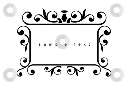Iron design frame stock vector clipart, Iron design elements - vector illustration by ojal_2