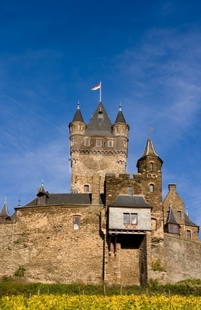 Castle in Cochem, Germany stock photo, Castle in Cochem on the Moselle, Rhineland-Palatinate, Germany by Interlight