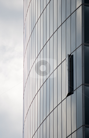 Modern architecture stock photo, Modern skyscraper with one window opened by Interlight