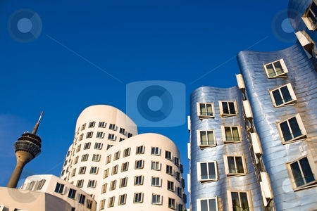 Modern Architecture in Dusseldorf stock photo, Modern Architecture in Dusseldorf, Germany by Interlight