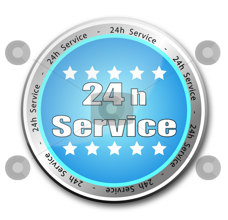 24h Service stock photo, 24h Service button by Stefano SENISE
