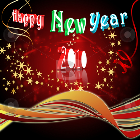 New year eve background stock photo, Happy New Year - 2010 by Stefano SENISE