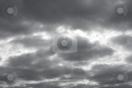 Gloomy dark grey sky clouds. stock photo, Gloomy dark grey sky clouds. by Stephen Rees
