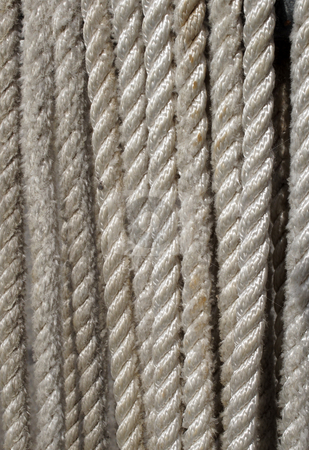 Boat mooring line rope close up. stock photo, Boat mooring line rope close up. by Stephen Rees
