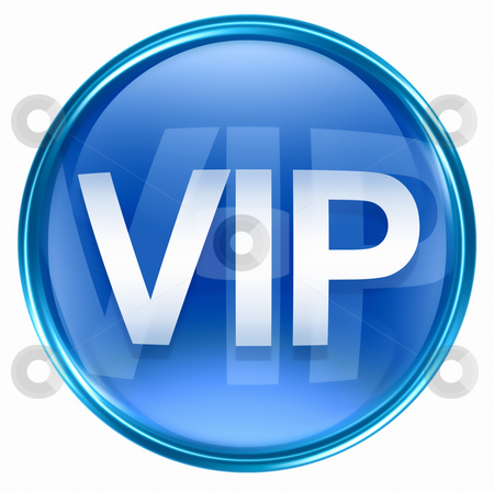 VIP icon blue, isolated on white background. stock photo, VIP icon blue, isolated on white background. by Andrey Zyk