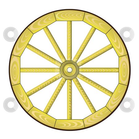 Spoke wheel stock vector clipart,  by Aleksandr Korablin