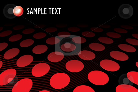 Red halftone dots stock vector clipart, Red halftone dots - vector illustration by ojal_2